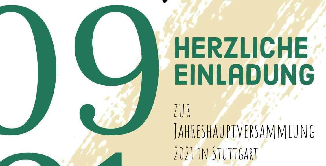 Read more about the article Herzliche Einladung zur Jahreshauptversammlung 2021 in Stuttgart
